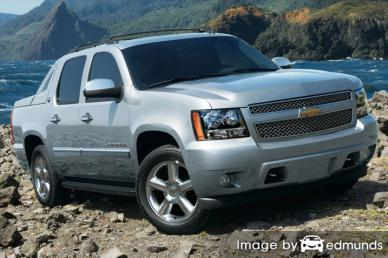 Insurance rates Chevy Avalanche in Honolulu