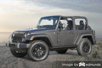 Insurance rates Jeep Wrangler in Honolulu